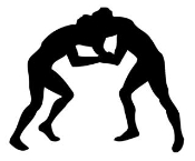 Wrestling Silhouette Decal Sticker