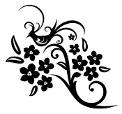 Bird on Flowers Decal Sticker