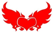 Heart With Wings v3 Decal Sticker