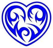 Tribal Heart v2 Decal Sticker