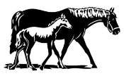Horse and Colt Decal Sticker