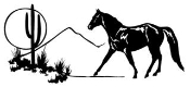 Horse in Desert Decal Sticker