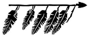Spear With Feathers Decal Sticker