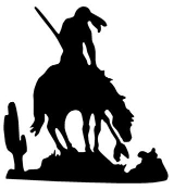 Warrior on Horse v2 Decal Sticker