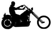 Chopper Silhouette v1 Decal Sticker