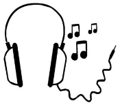 Head Phones Decal Sticker