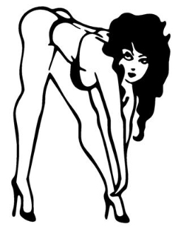 Bent Over Bikini Girl Decal Sticker