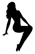 Girl Posing v1 Decal Sticker