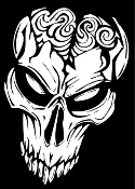 Alien Skull v1 Decal Sticker