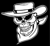 Cowboy Western Skull v1 Decal Sticker