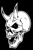 Devil Skull Decal Sticker