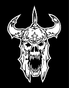 Evil Viking Skull Decal Sticker