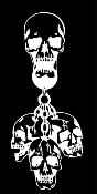 Hanging Skulls Decal Sticker
