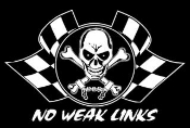 No Weak Links Skull Decal Sticker
