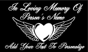 Memorial with Heart and Wings v2 Decal Sticker