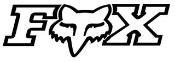 Fox Logo Outline Decal Sticker