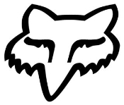Fox Head Logo Outline Decal Sticker
