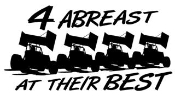 4 Abreast At Their Best Sprint Cars Decal Sticker