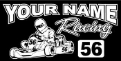 Personalized Shifter Kart Racing v5 Decal Sticker