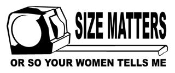 Size Matters Decal Sticker
