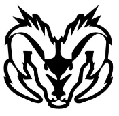 Ram Head Outline Decal Sticker