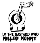 I Killed Kenny Decal Sticker