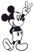 Mickey Mouse 1 Decal Sticker