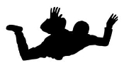Sky Diver 1 Decal Sticker