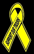 Support Our Troops Ribbon Decal Sticker
