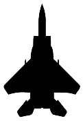 Fighter Jet Silhouette v1 Decal Sticker