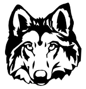 Wolf Head v1 Decal Sticker