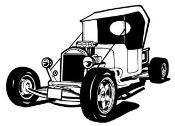 Hot Rod v4 Decal Sticker