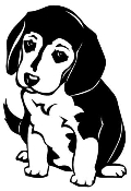 Beagle Pup Decal Sticker