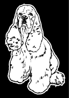 Cocker Spaniel v2 Decal Sticker