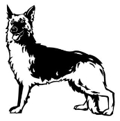 German Shepherd Decal Sticker