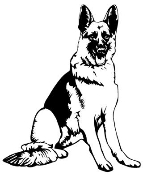 German Shepherd v2 Decal Sticker