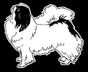 Japanese Chin Decal Sticker