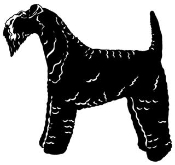 Kerry Blue Terrier Decal Sticker