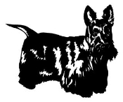 Scottish Terrier v2 Decal Sticker