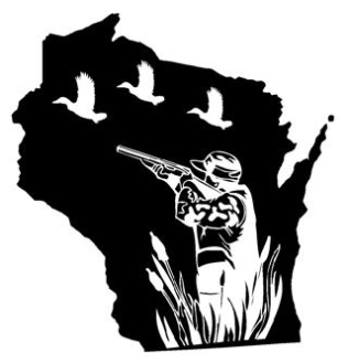 Wisconsin Duck Hunting Decal Sticker