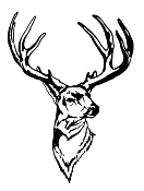 Deer Head v1 Decal Sticker