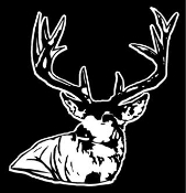 Deer Head v3 Decal Sticker