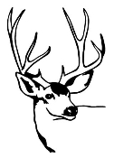 Deer Head v5 Decal Sticker