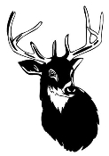 Deer Head v6 Decal Sticker