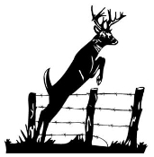 Deer Jumping Fence Decal Sticker