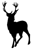 Deer Silhouette v1 Decal Sticker