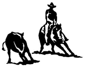 Cutting Horse Decal Sticker