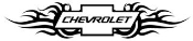 Tribal Chevy v1 Decal Sticker