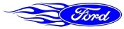 Ford Oval Flames Left Decal Sticker