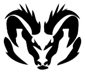 Ram Head v2 Decal Sticker